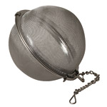 Organic Teas Canada presents a handy 3 inch stainless steel tea ball and herb infuser for a larger teapot.