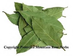 Organic Teas Canada offers fresh, tasty organic spices of exceptional quality including the whole bay leaf pictured.