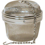 Organic Teas Canada stainless steel large mesh tea and spice ball 3 inches, for larger teapot or spice infusion.
